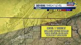 Severe Threat level for Monday afternoon