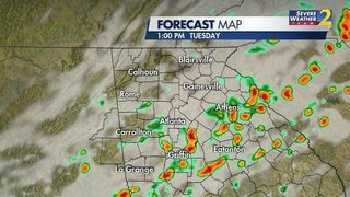 LIVE UPDATES: Heavy rain falling across metro Atlanta now, storms later today