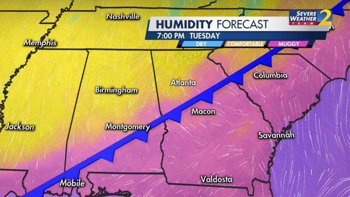 ATLANTA WEATHER TODAY: LIVE UPDATES: Heavy rain moving