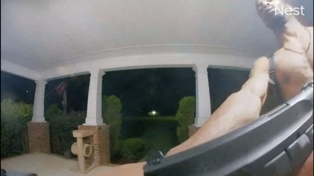 Terrifying doorbell video shows man with gun at two homes, police