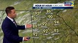 Hot Wednesday afternoon ahead
