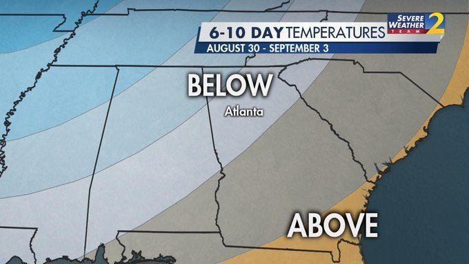Big cooldown ahead after stormy Saturday | WSB-TV