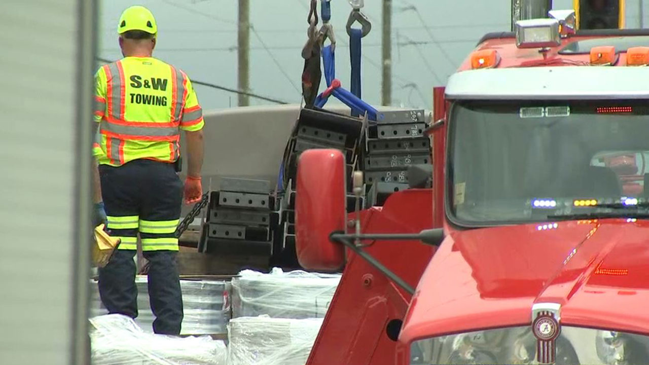 Driver, 76, killed after load on tractor-trailer shifts in
