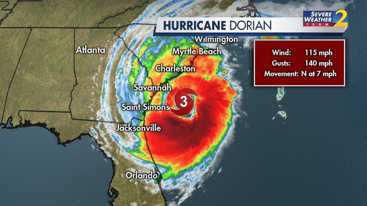 LIVE UPDATES: Dorian regains strength, now Cat  3 storm | WSB-TV