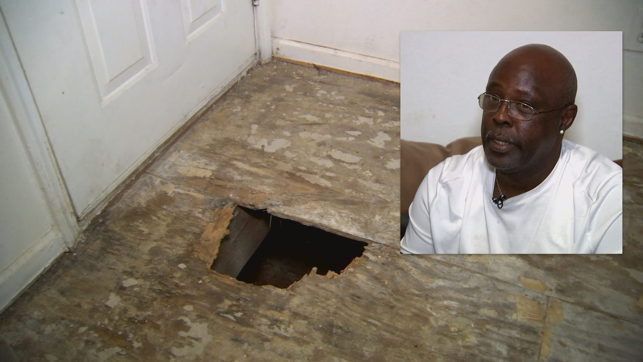 'It's gonna happen again': Man falls through kitchen floor, urges apartment manager to fix hole