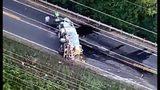 Chopper video of the truck crash involving dynamite
