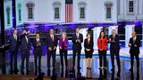 Democratic presidential candidates take the stage during the first night of the Democratic presidential debate on June 26, 2019 in Miami, Florida. (Photo by Joe Raedle/Getty Images)