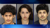 Suspects left to right: 19-year-old Christopher Gutierrez of Smyrna, 23-year-old Yainerys Gil of Mableton and 19-year-old Zackary Franks of Mableton