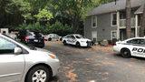 Police at Capella Apartments on Preston Lake Drive in Norcross.