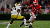 Georgia takes first lead of game over Notre Dame. 13-10