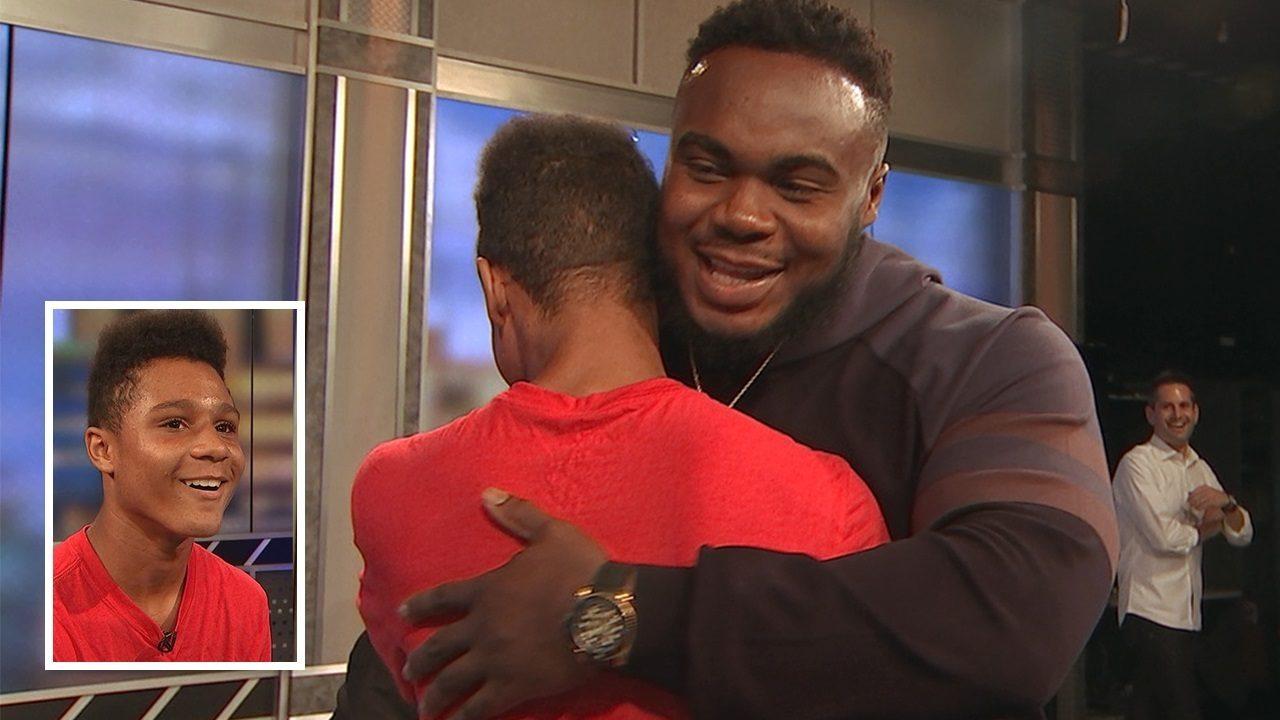 Falcons' Grady Jarrett surprises teen who was bullied at school