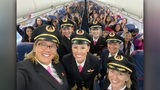 """The girls, ages 12-18, were flown from Salt Lake City to NASA in Houston """"as we work to close the gender gap in aviation,"""" Delta said in a press release."""