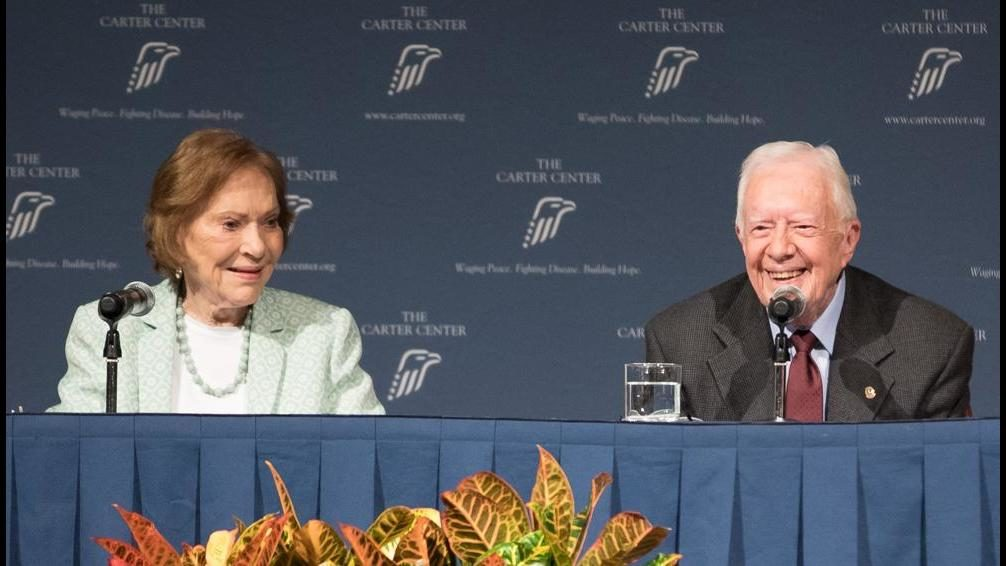 Jimmy and Rosalynn Carter now the longest-married presidential couple
