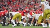 Georgia quarterback Jake Fromm (11) shouts instructions during the second half in a NCAA college football at Sanford Stadium in Athens on Saturday, September 21, 2019. Georgia defeated Notre Dame 23-17. (Hyosub Shin / Hyosub.Shin@ajc.com)