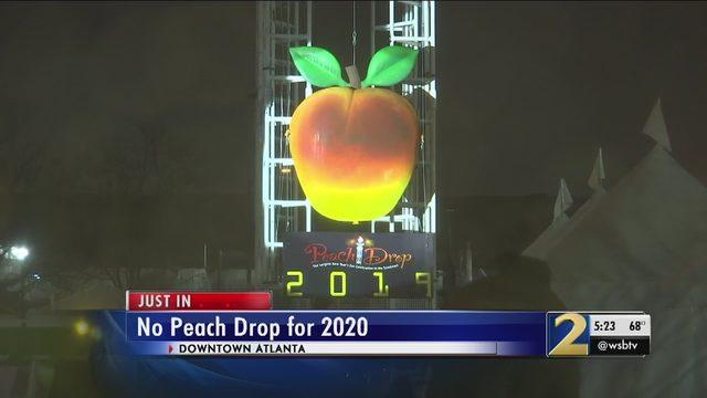 Atlanta New Years Eve 2020.Peach Drop Atlanta No Peach Drop In Atlanta This New Year S