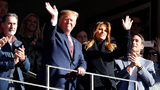 President Donald Trump and first lady Melania Trump attend the game between the LSU Tigers and the Alabama Crimson Tide at Bryant-Denny Stadium on November 09, 2019 in Tuscaloosa, Alabama. (Photo by Kevin C. Cox/Getty Images)