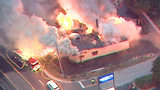 El Sombrero catches fire in Hall County.