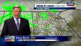 Isolated light showers possible Friday evening
