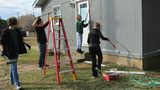 Teens fix up veteran's house