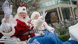 Santa and Mrs. Claus at the Children's Christmas Parade